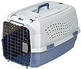 Amazon Basics Transportbox für Haustiere, 2 Türen, 1 Dachöffnung, 58cm