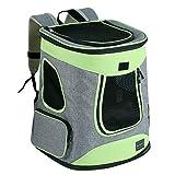 Petsfit Haustier Rucksäcke für Hund und Katzen Faltbarer Hunderucksack Katzen Rucksack für Reise, Walken, Radfahren und Outdoor,43cm x 32cm x 29cm