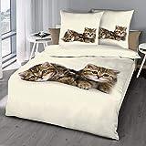 Schlummerglück Original Bettwäsche, Qualitätsware zum attraktiven Preis, 100% Baumwolle, Verschiedene Modelle und Qualitäten verfügbar (Murli & Schnurrli, Einzelbett 140x200 | 70x90)